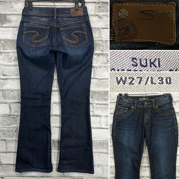 Silver Jeans Suki W27 L30 Dark Bootcut Stretch